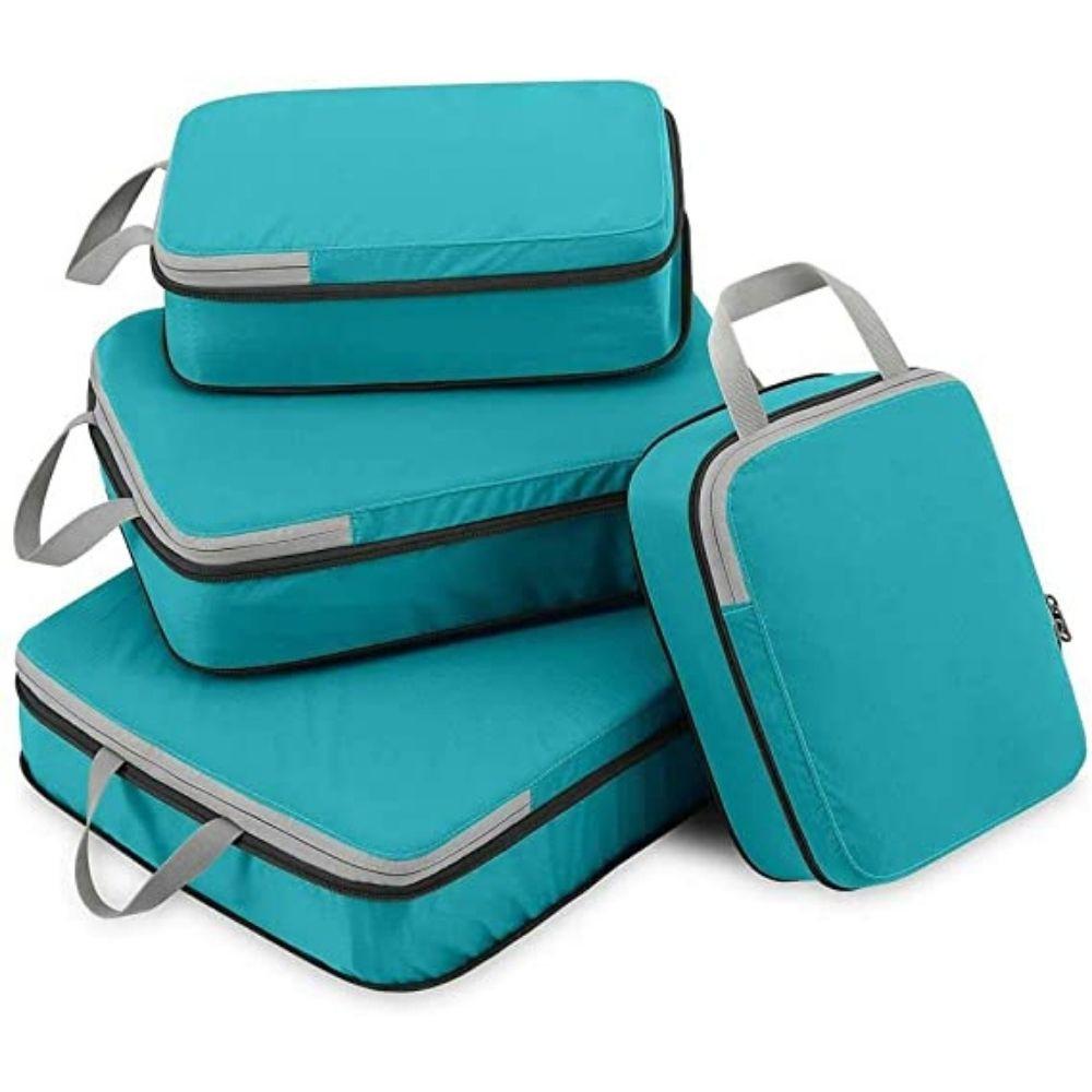 Organizador de Mala com Compressão Kit 4 e Bag PAX