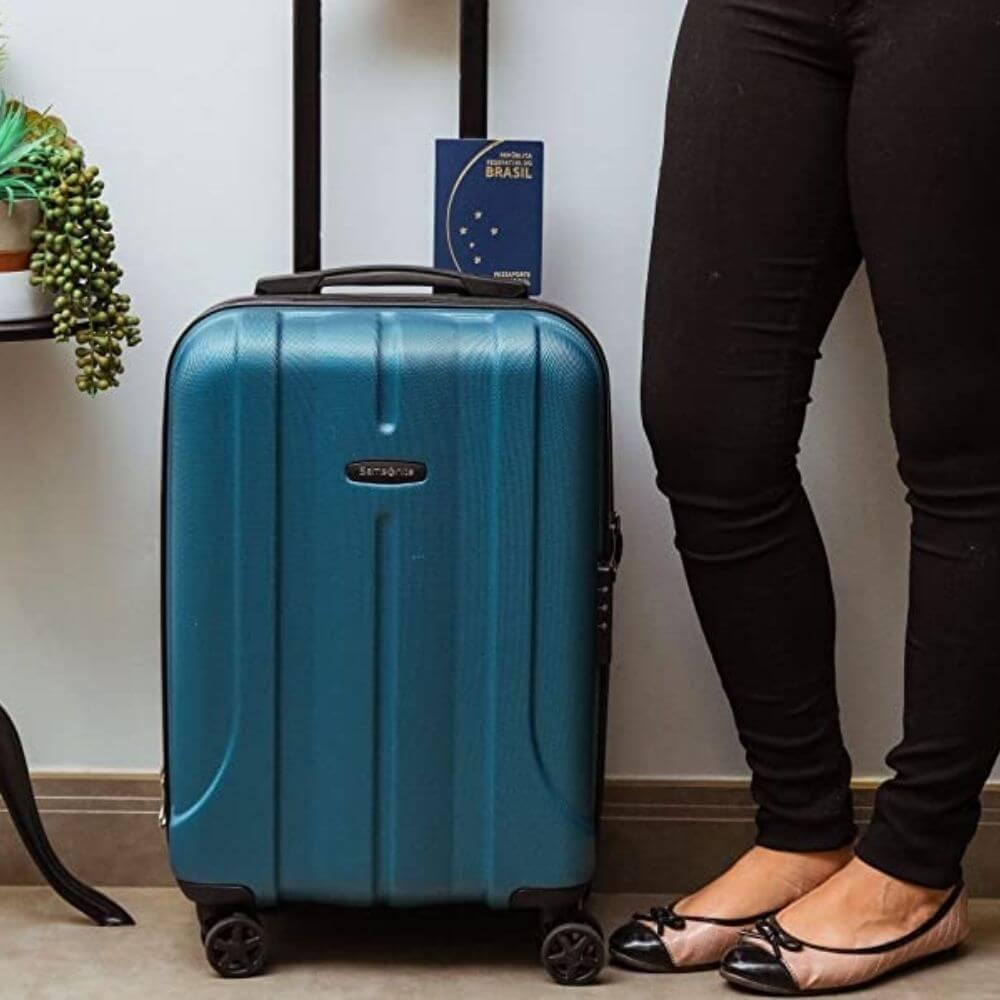 Mala de viagem expansível presente para quem gosta de viajar