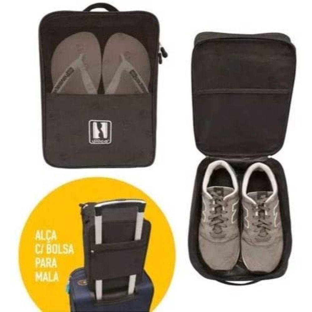Porta Sapatos Organizador Viagem Impermeável C/Alça P/Mala