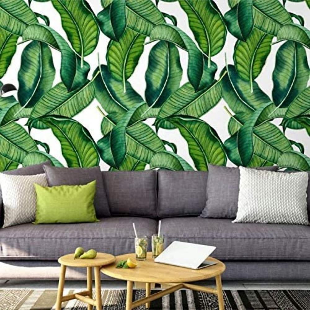 Papel de parede de folhas de bananeira