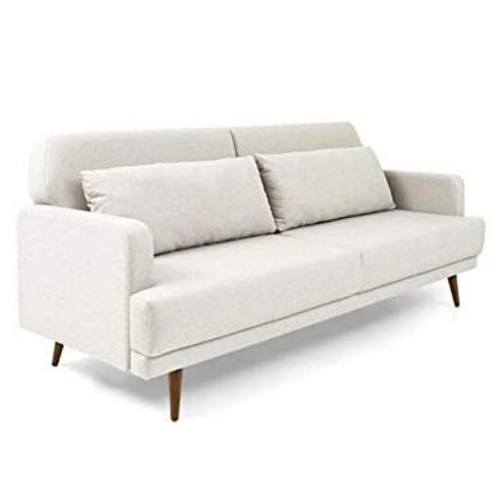 sofá de linho para decoração náutica