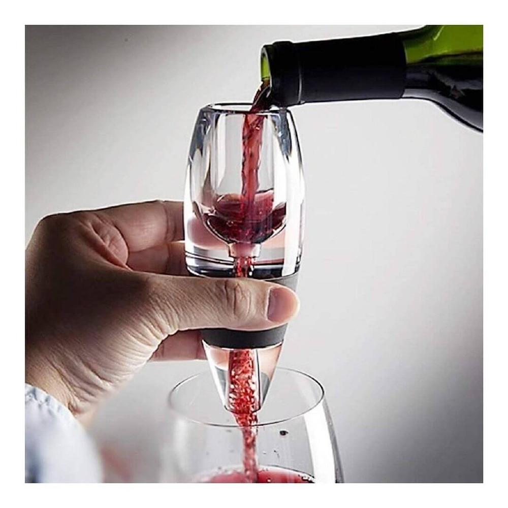 Aerador Decantador Magic Luxo Vinho Torre Suporte Decanter