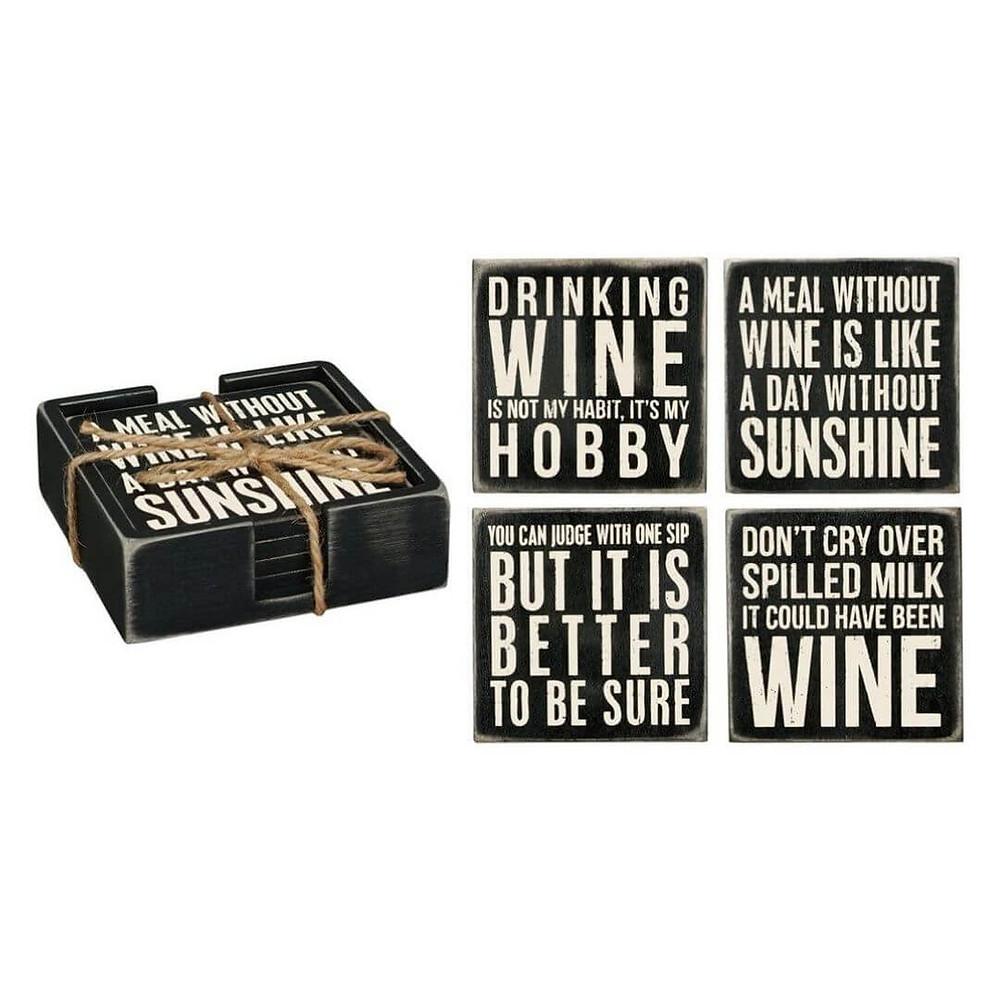 Porta-copos Clássicos de Vinho Primitives By Kathy