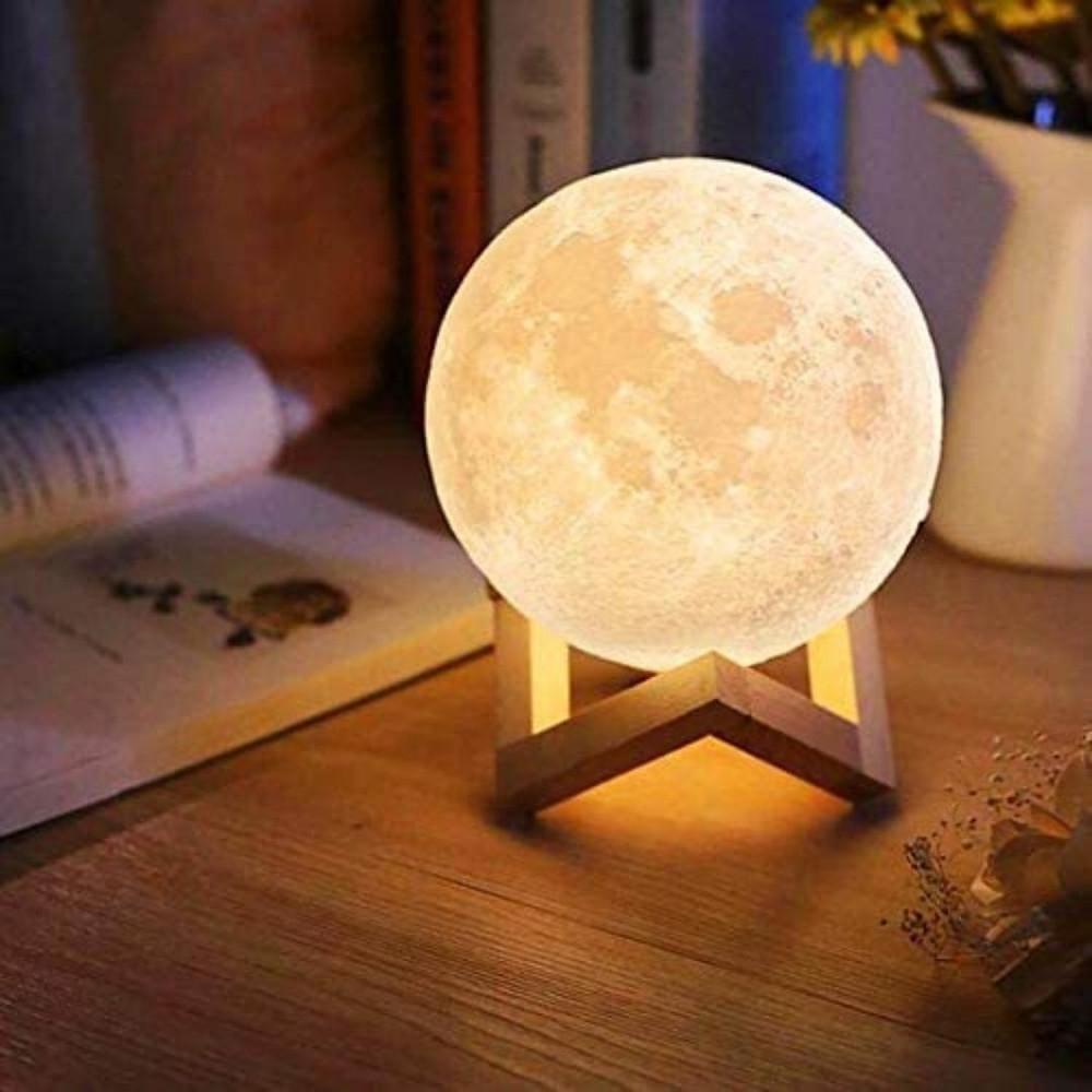 Luminária 3D lua cheia  de presente até R$100