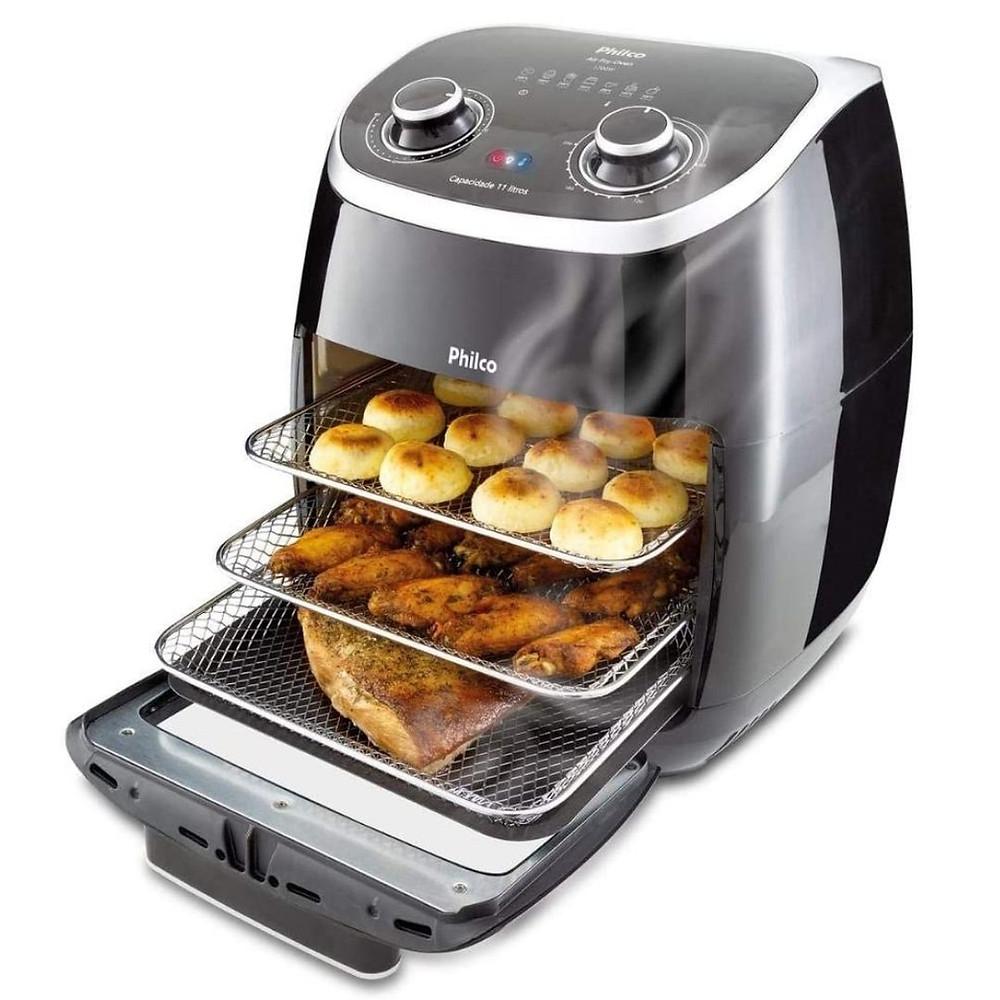 Fritadeira Philco 2 em 1 Air Fryer e Forno Oven