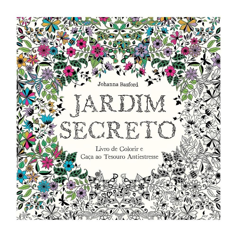 Livro para colorir Jardim Secreto de presente até R$ 50