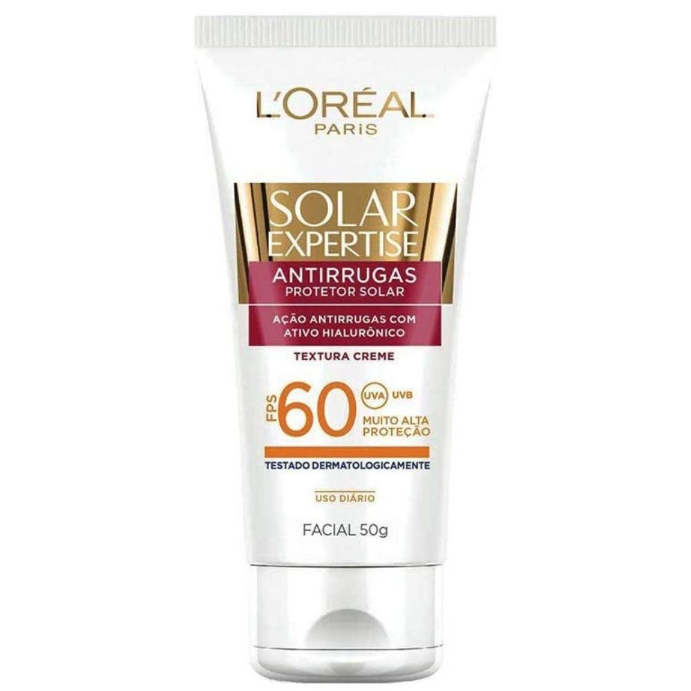 Protetor Solar Facial Antirrugas FPS 60  L'Oréal Paris