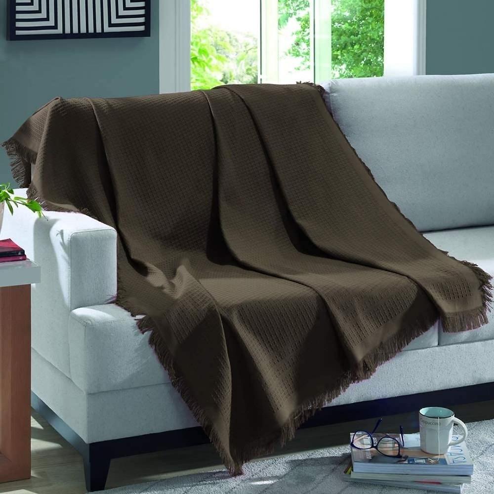 Manta decorativa para sofá  de presente até R$100