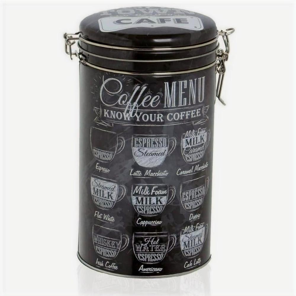 Pote Coffe Can 11x19cm Preto Etna