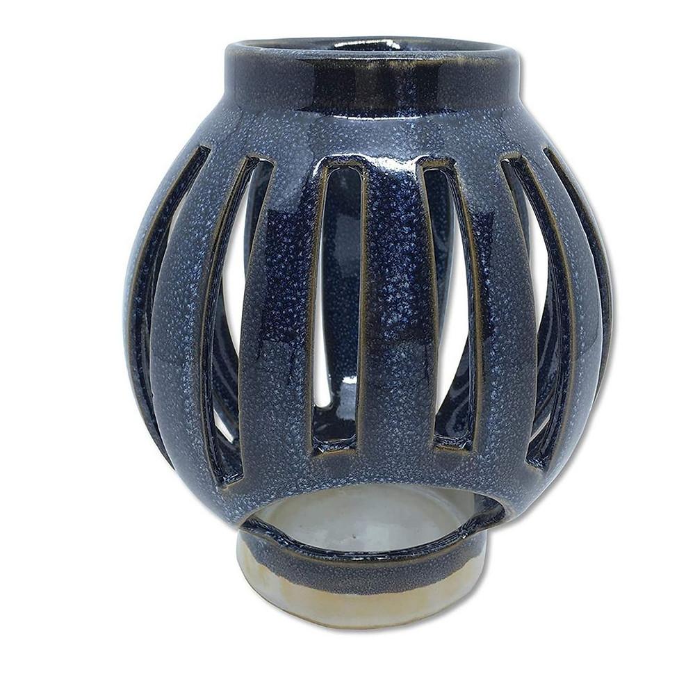 Lanterna cerâmica azul para decoração náutica