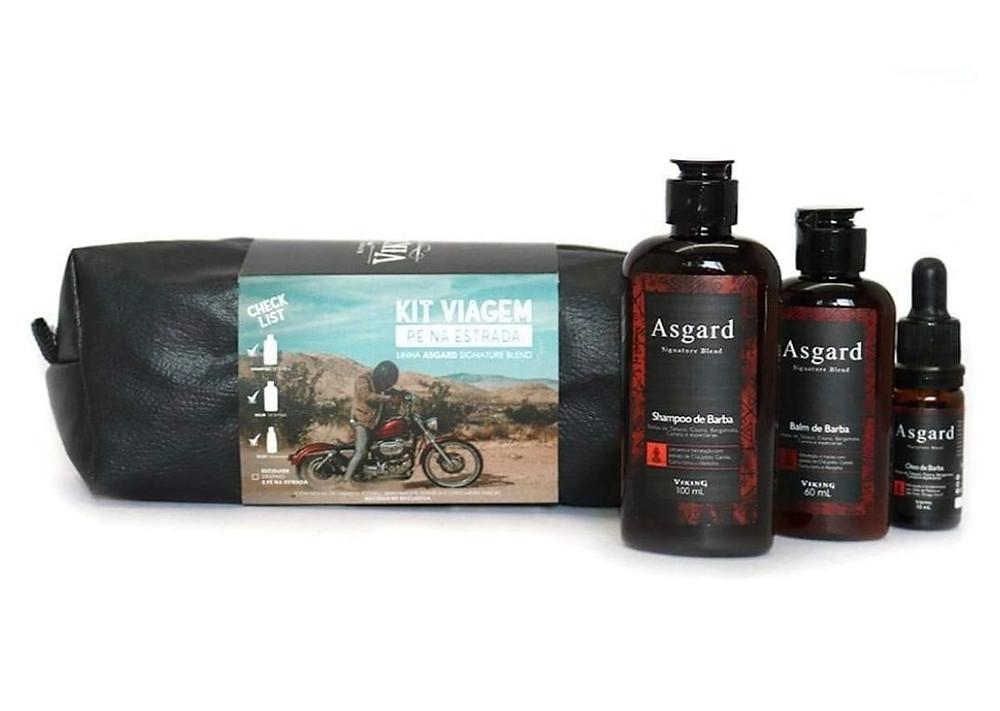 Kit Para Barba Viagem Pé na Estrada Asgard - Viking