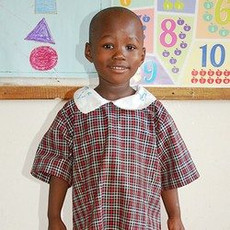 A young girl from the Nambale Magnet School.