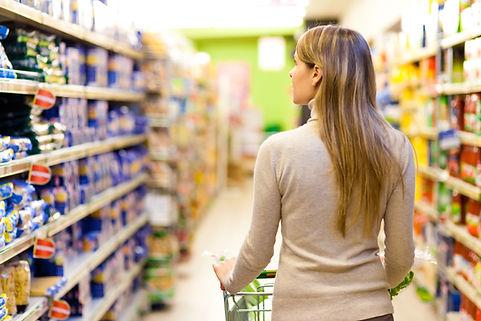 Supermercado con productos SAP