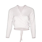 White 3/4 Sleeved Crossover - A1 Dance