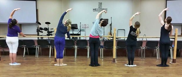 Adult Ballet Students at the Barre