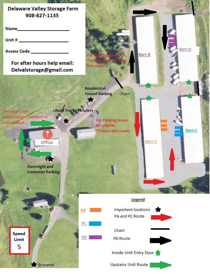 Facility Map and information