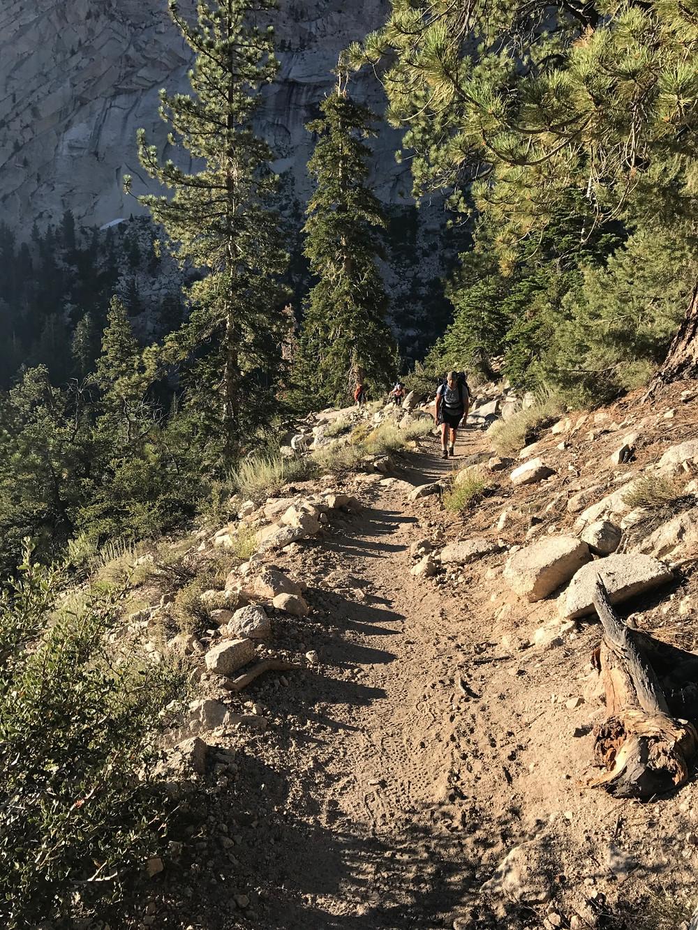 Mt Whitney trail starting climb