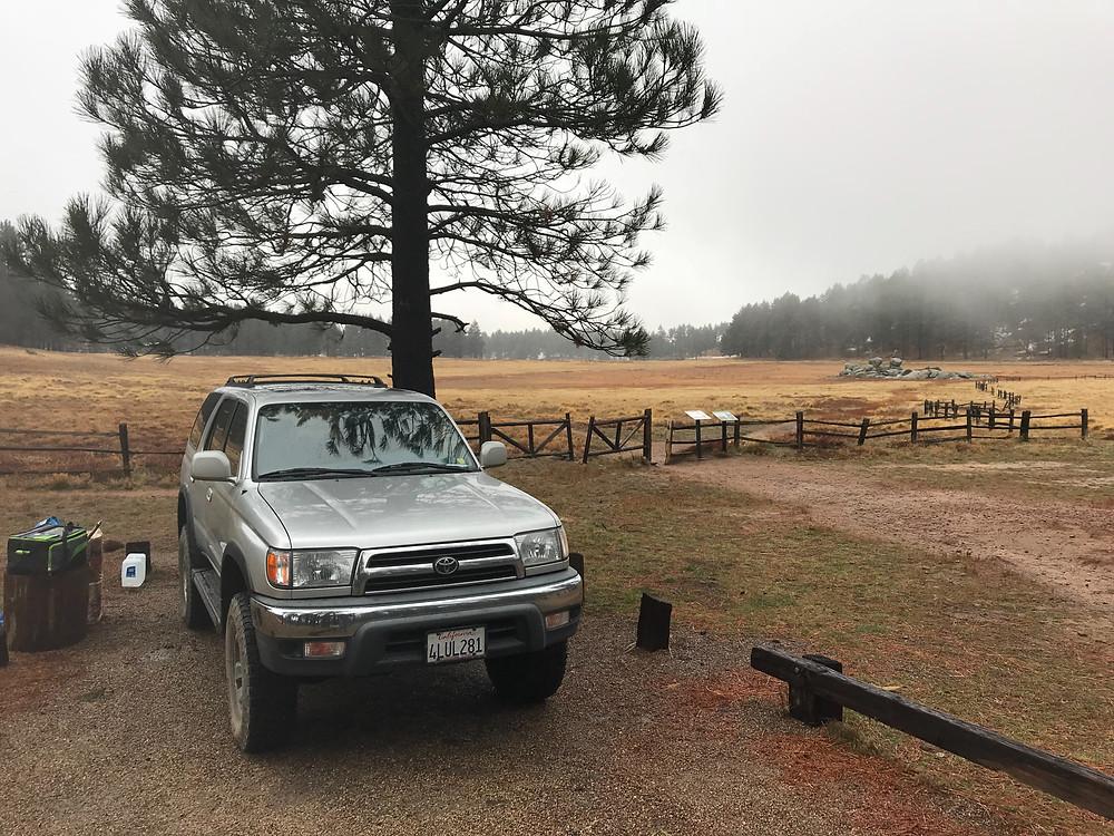 Mt Laguna Campsite with Mountain Meadows