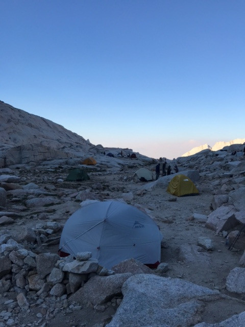 Mt Whitney Trail camp