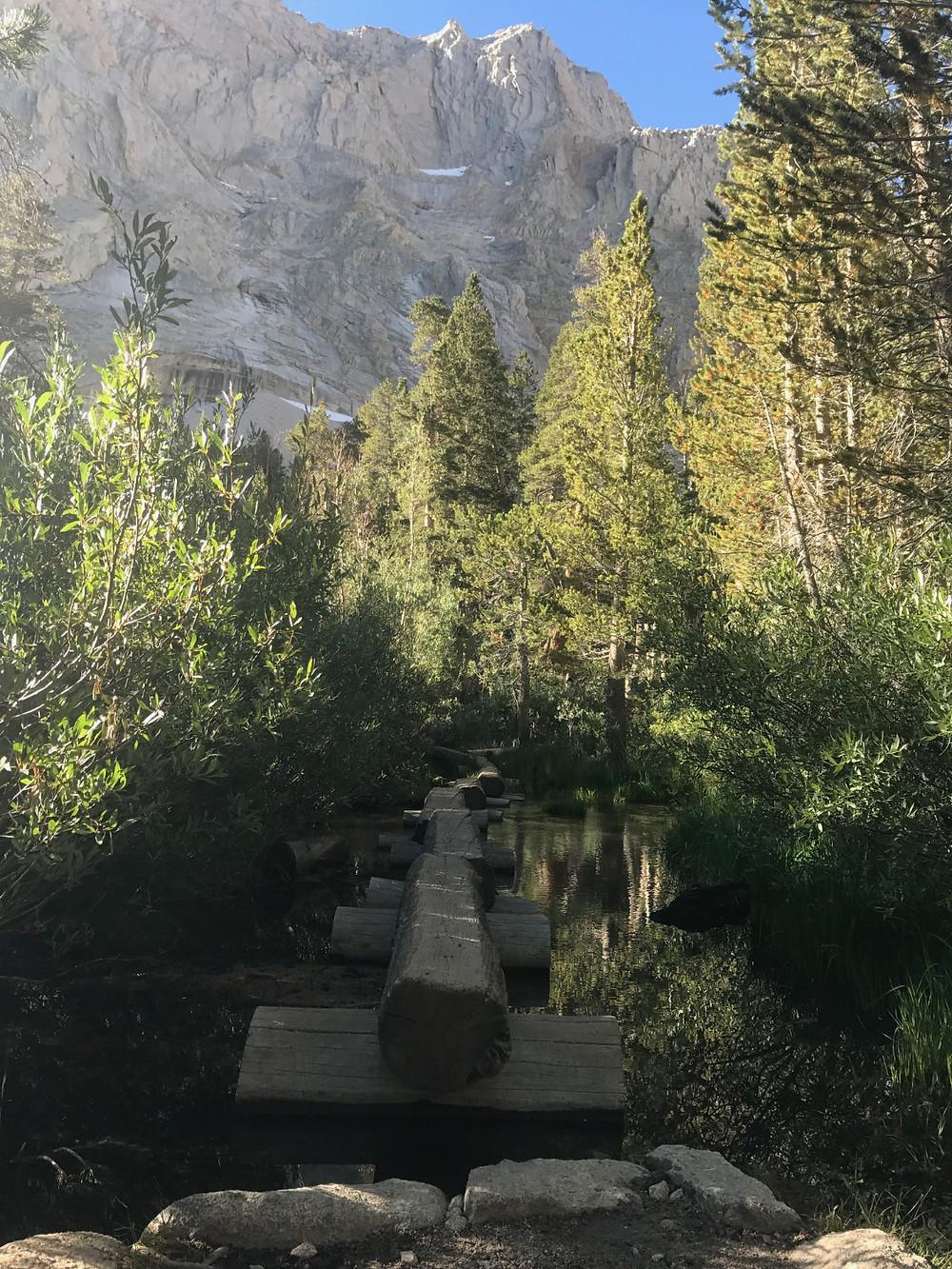Mt Whitney trail creek crossing