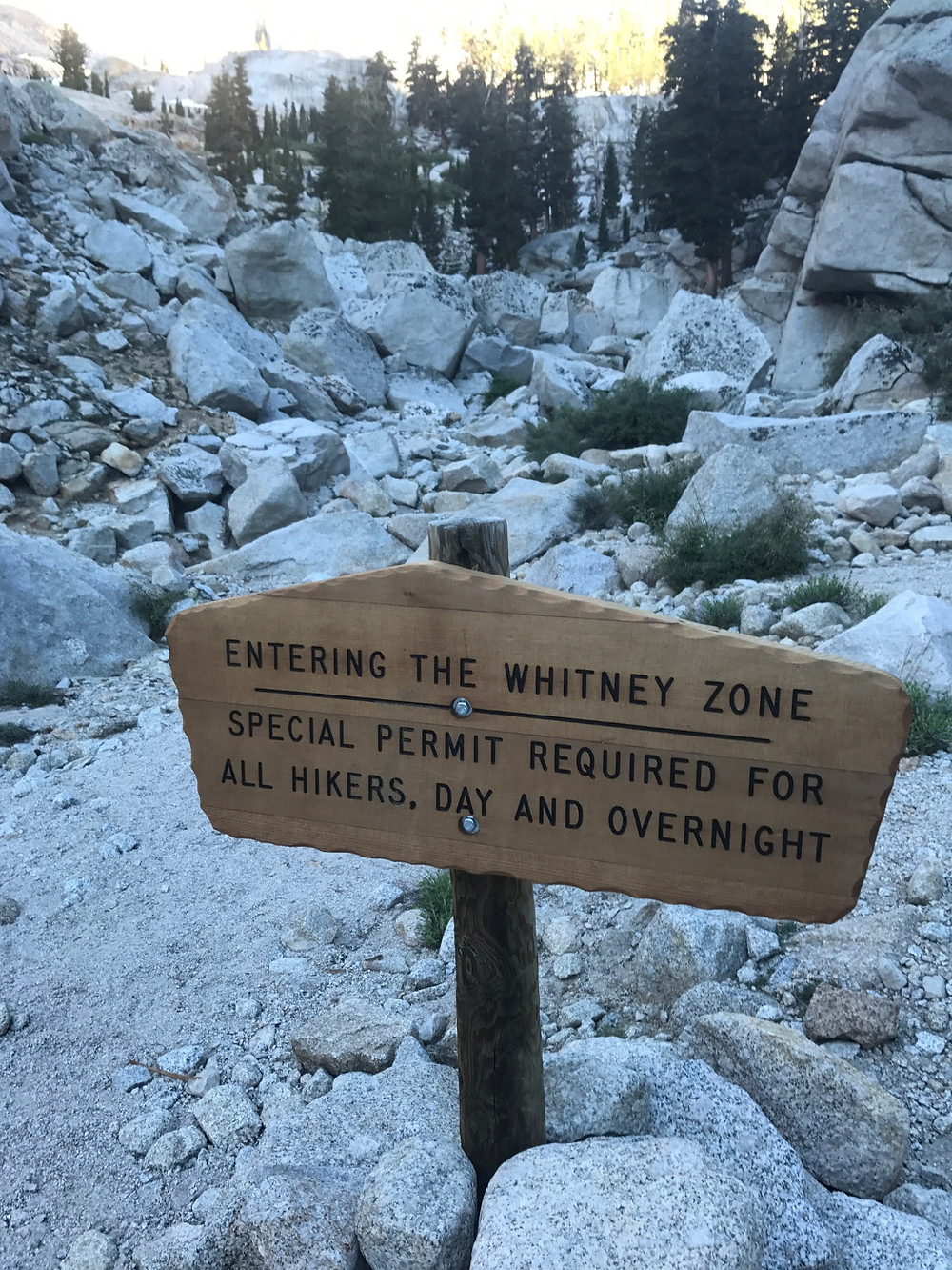 Mt Whitney Trail Permit Section