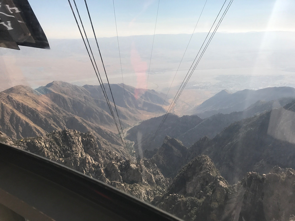 View from the aerial tram looking down at Palm Springs