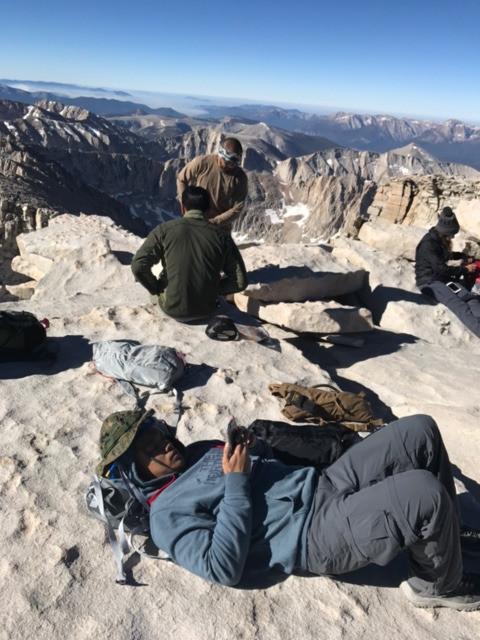 Mt Whitney Summit Nap