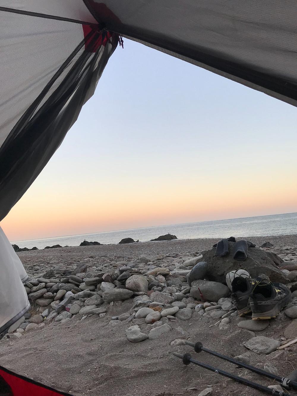 My Tent Door Parsons Landing