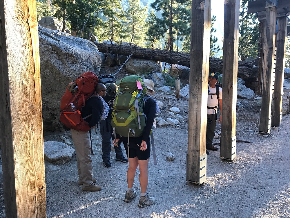 Mt Whitney backpack weighing station