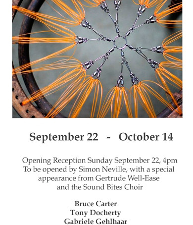 Be Seated – The Exhibition Opening 4pm Sunday 22nd Sept