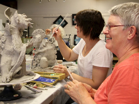 Images from Gargoyle Workshop with Robyn Lees, Nov 23-24th