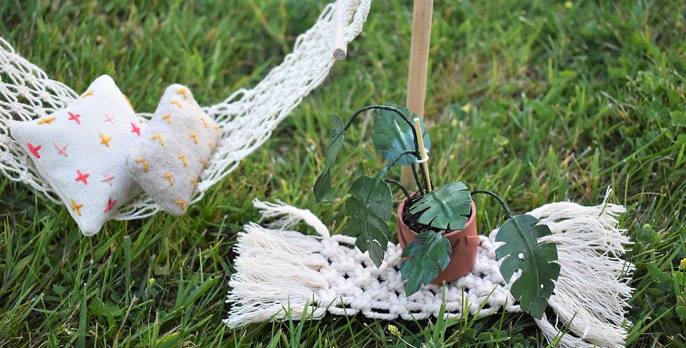Miniature Macreame Rug