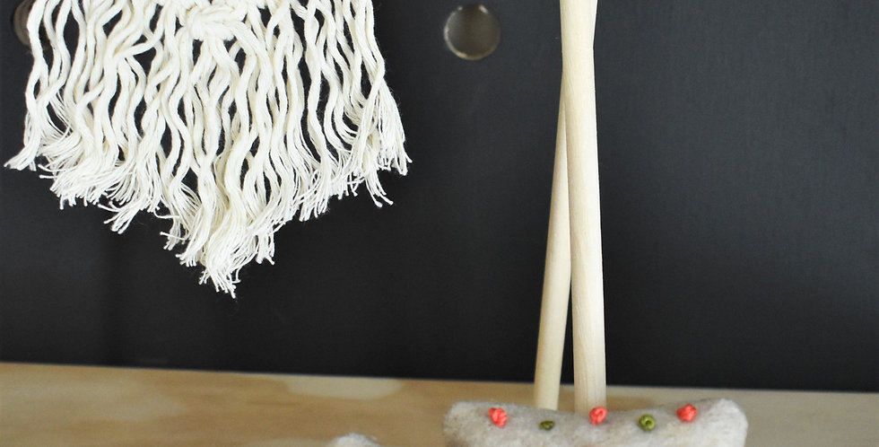 Colorful Miniature Macrame Rug