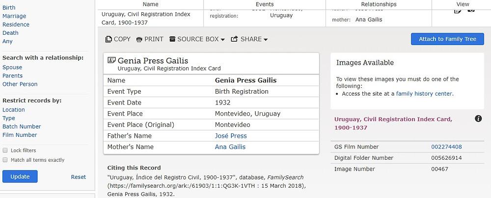 Genia Press Gailis record