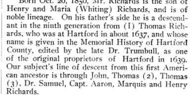 Thomas Richards of Hartford.