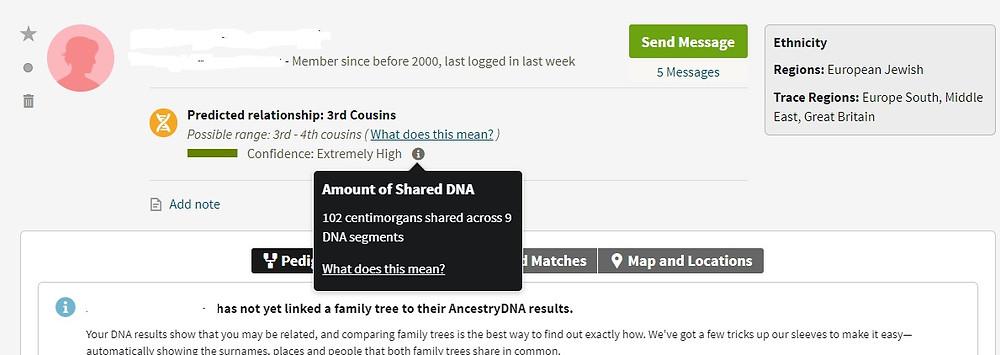 AncestryDNA match