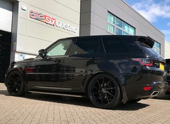 Black Range Rover Sport on HAWKE Arion wheels in Black colour finish