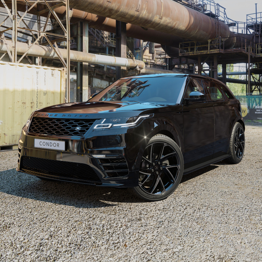 Black Range Rover Velar on HAWKE Condor wheels in Black colour finish