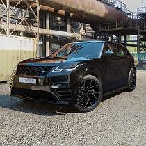 Black Range Rover Velar on HAWKE Condor wheels in Black colour finish