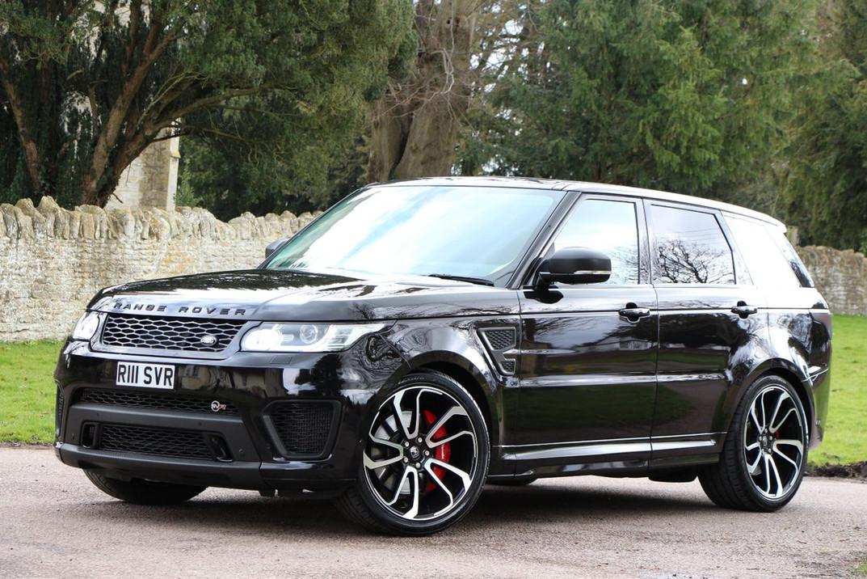 Black Range Rover Sport on HAWKE Falkon wheels in Black Polished colour finish