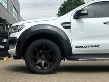 White Ford Ranger on HAWKE Knox wheels in Matt Black colour finish
