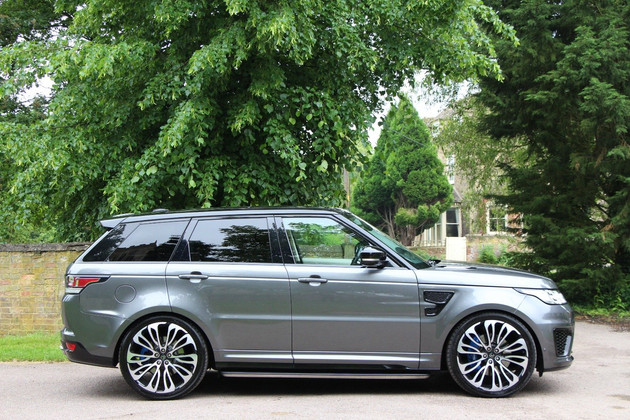 Grey Range Rover Sport on HAWKE Halcyon wheels in Black Polished colour finish