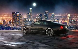 Black Rolls Royce Wraith on HAWKE Dresden wheels in Black colour finish