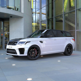 White Range Rover Sport on HAWKE Arion wheels in Black colour finish