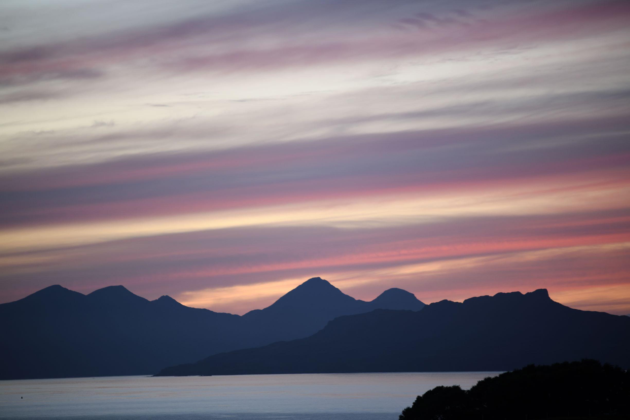 Sunset over Eigg