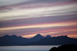 Sunset over Eigg