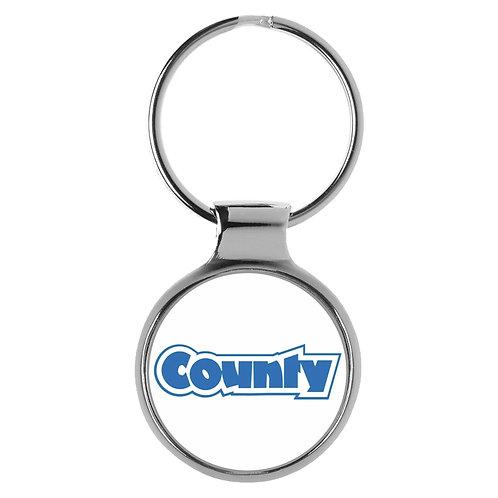 County Tractor 3D Schlüsselanhänger Key Chain Ring A-90035