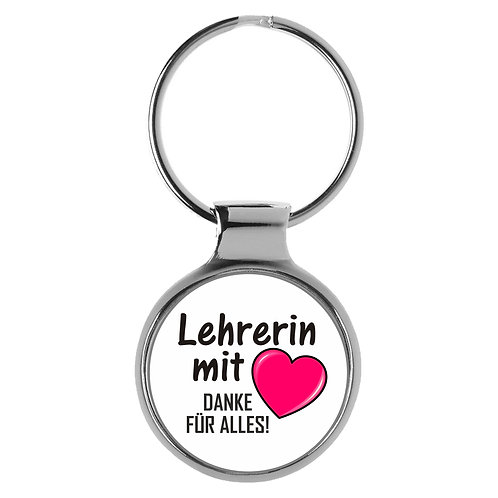 Schlüsselanhänger Lehrerin mit Herz Geschenk A-90191