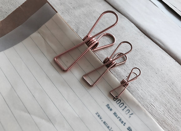 Wire Clip : Rose Gold.