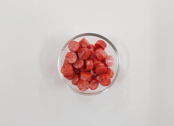 Wax beads :Orangey Pink